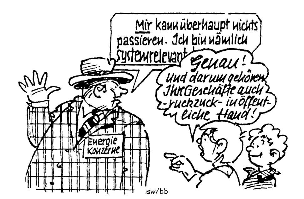 Karikatur: Bernd Bücking (aus report 99)