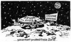 Karikatur: Bernd Bücking, isw