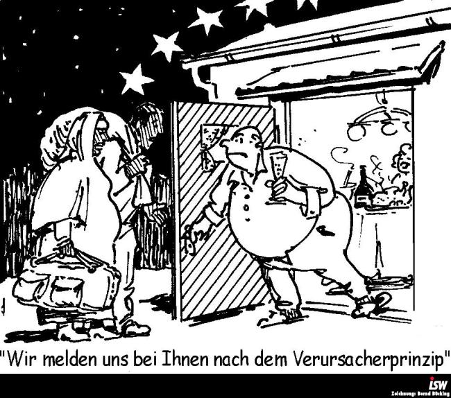Zeichnung: Bernd Bücking. entnommen aus: report 104, S. 23