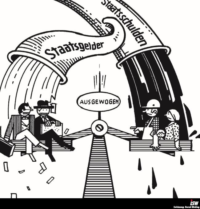 Zeichnung: Bernd Bücking. entnommen aus: wirtschaftsinfo 42, S. 1