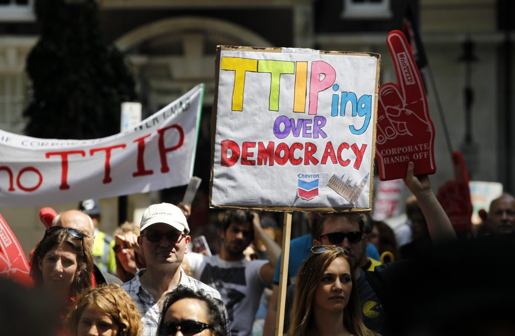 TTIP protest in London - 12/07/2014 from Flickr via Wylio