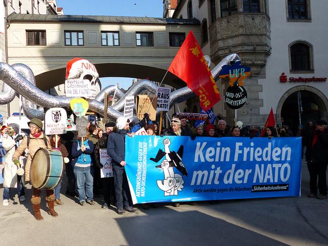 """Nato-""""Sicherheits""""-konferenz fordert zu Protesten heraus"""