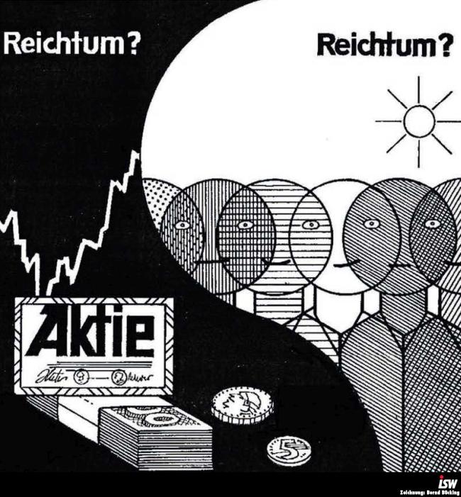 Zeichnung: Bernd Bücking. entnommen aus: report 45, S. 1