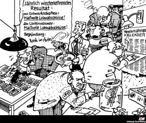 Zeichnung: Bernd Bücking. entnommen aus: wirtschaftsinfo 42, S. 4