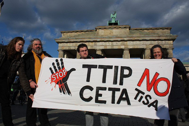 Globaler Aktionstag gegen TTIP, CETA & TiSA from Flickr via Wylio