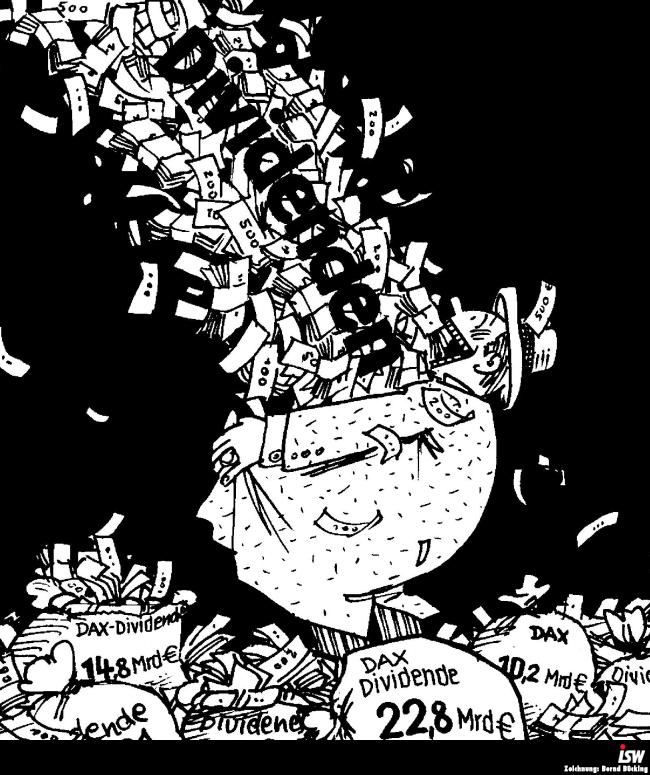Rekord-Profite und Dividenden-Rekorde der deutschen Konzerne